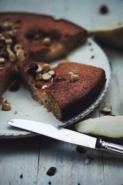 noisettes poires gâteau
