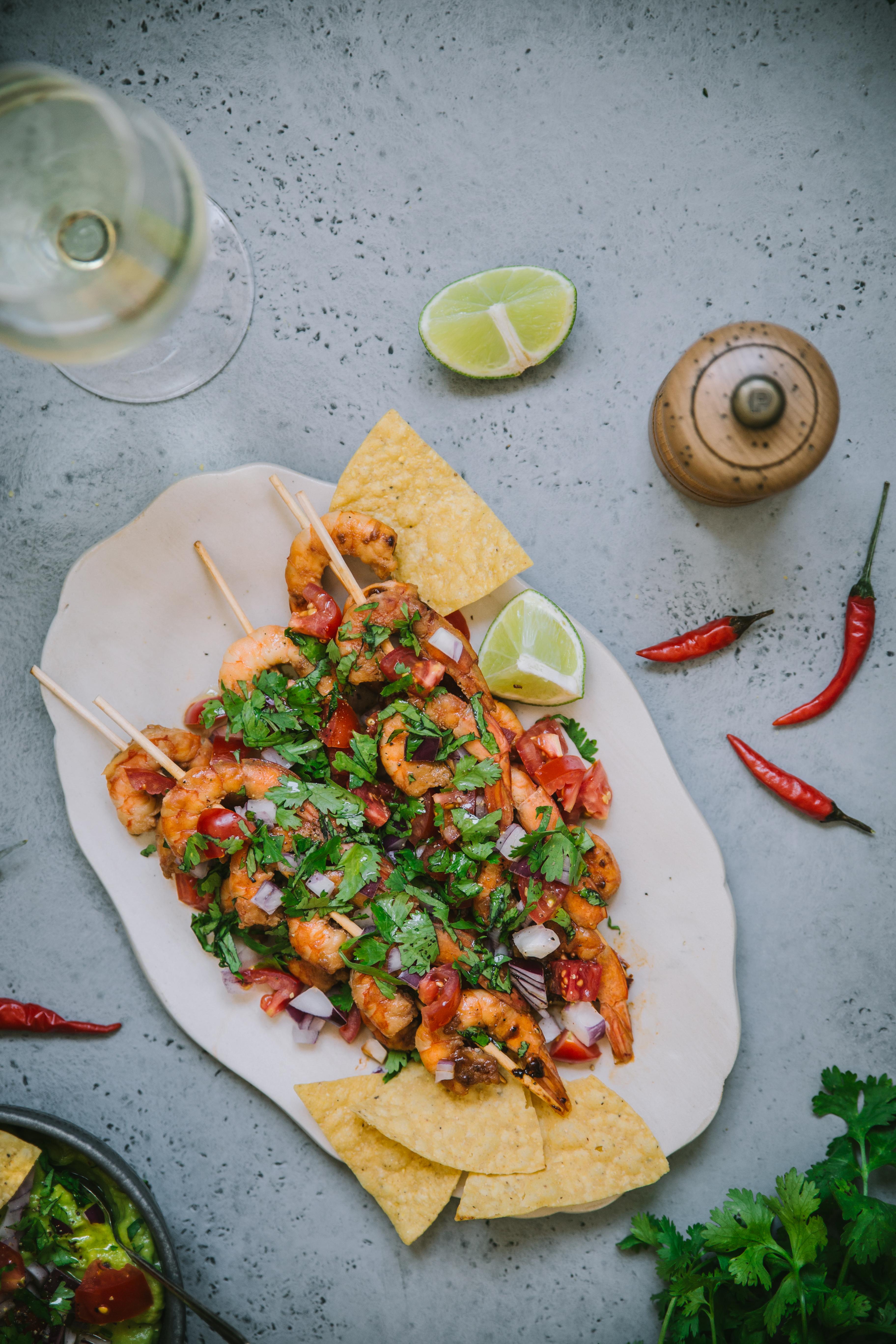 Brochettes de crevettes Tex Mex - Mégane Ardérighi