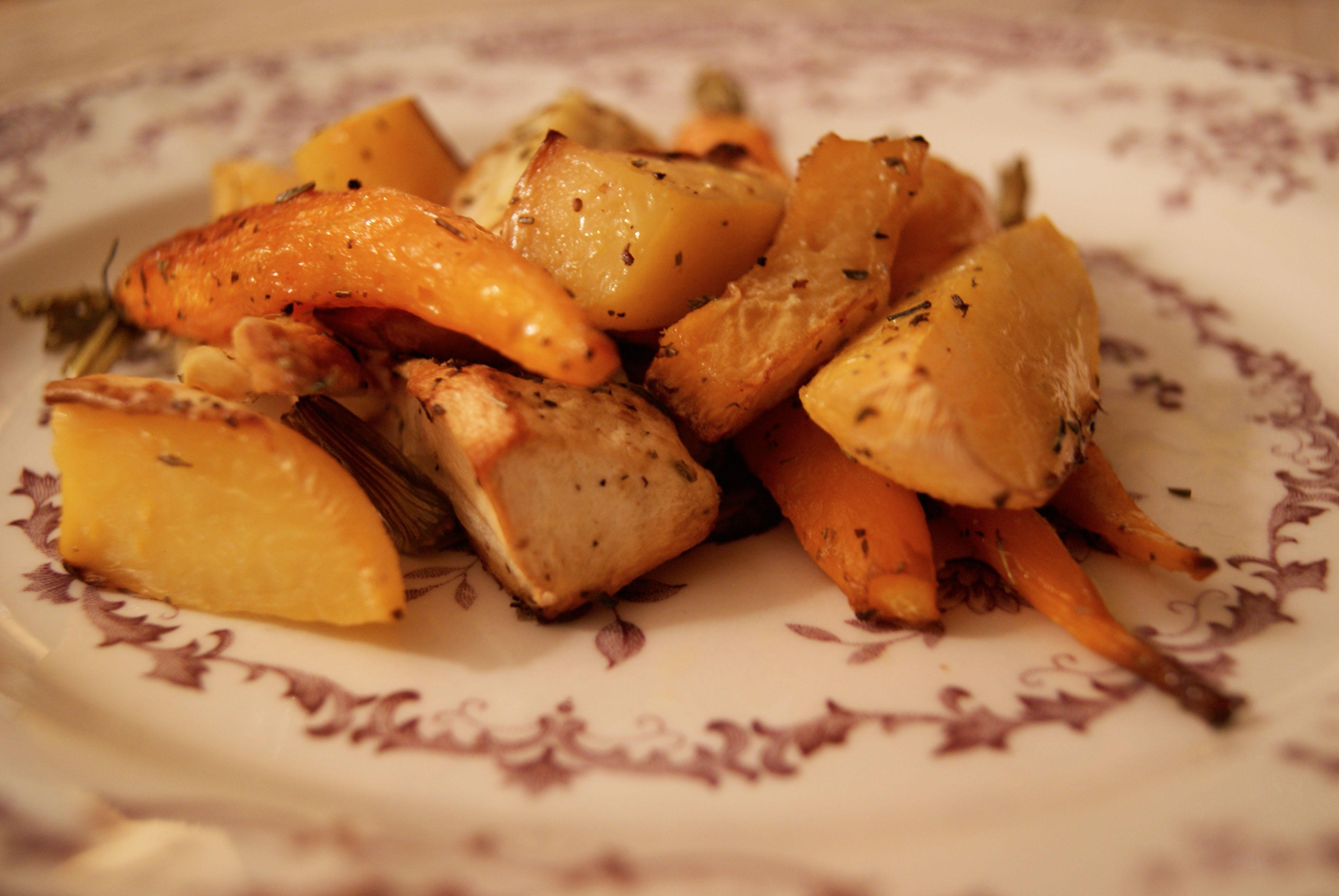 Légumes anciens rôtis au four