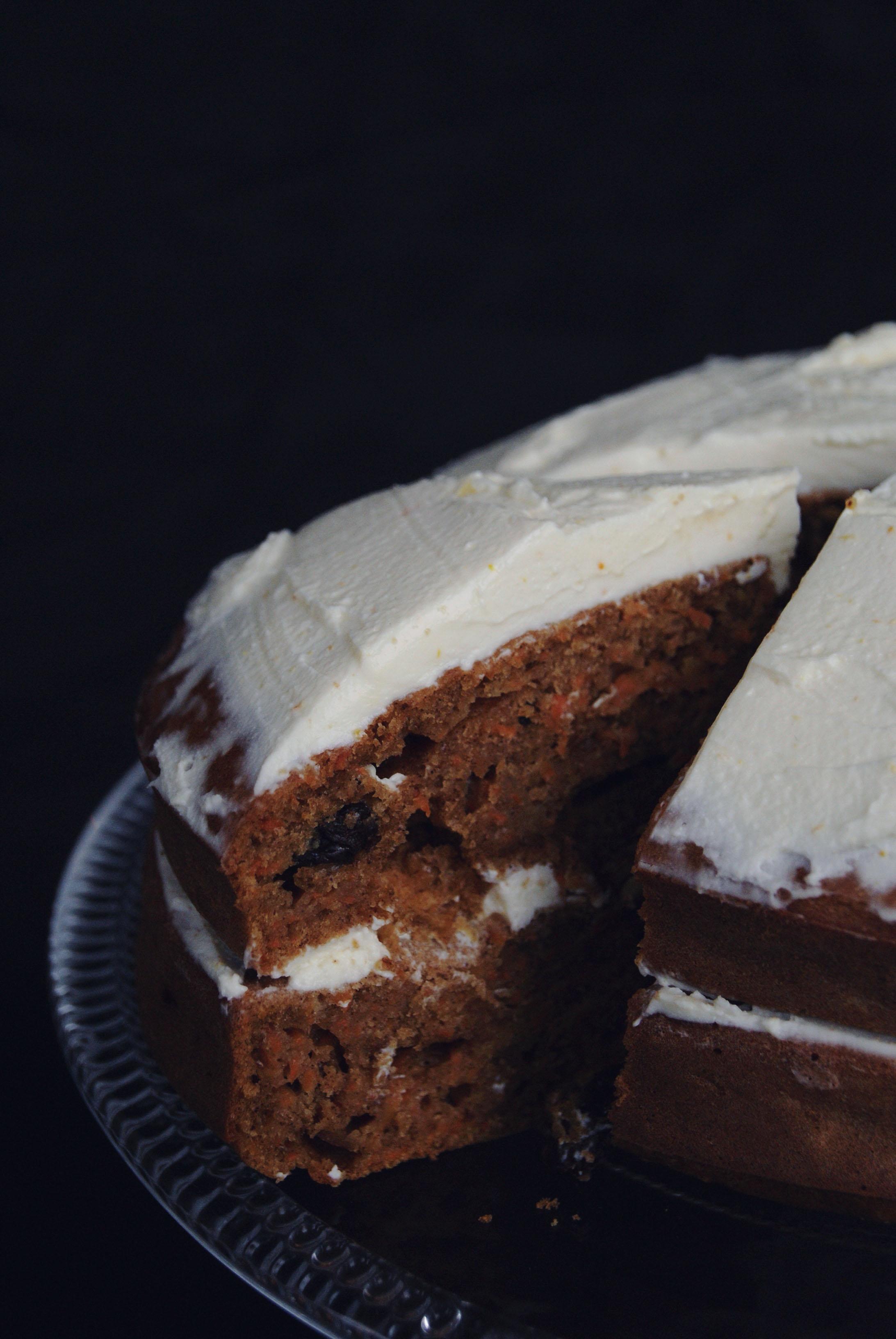Le carrot cake à huit mains