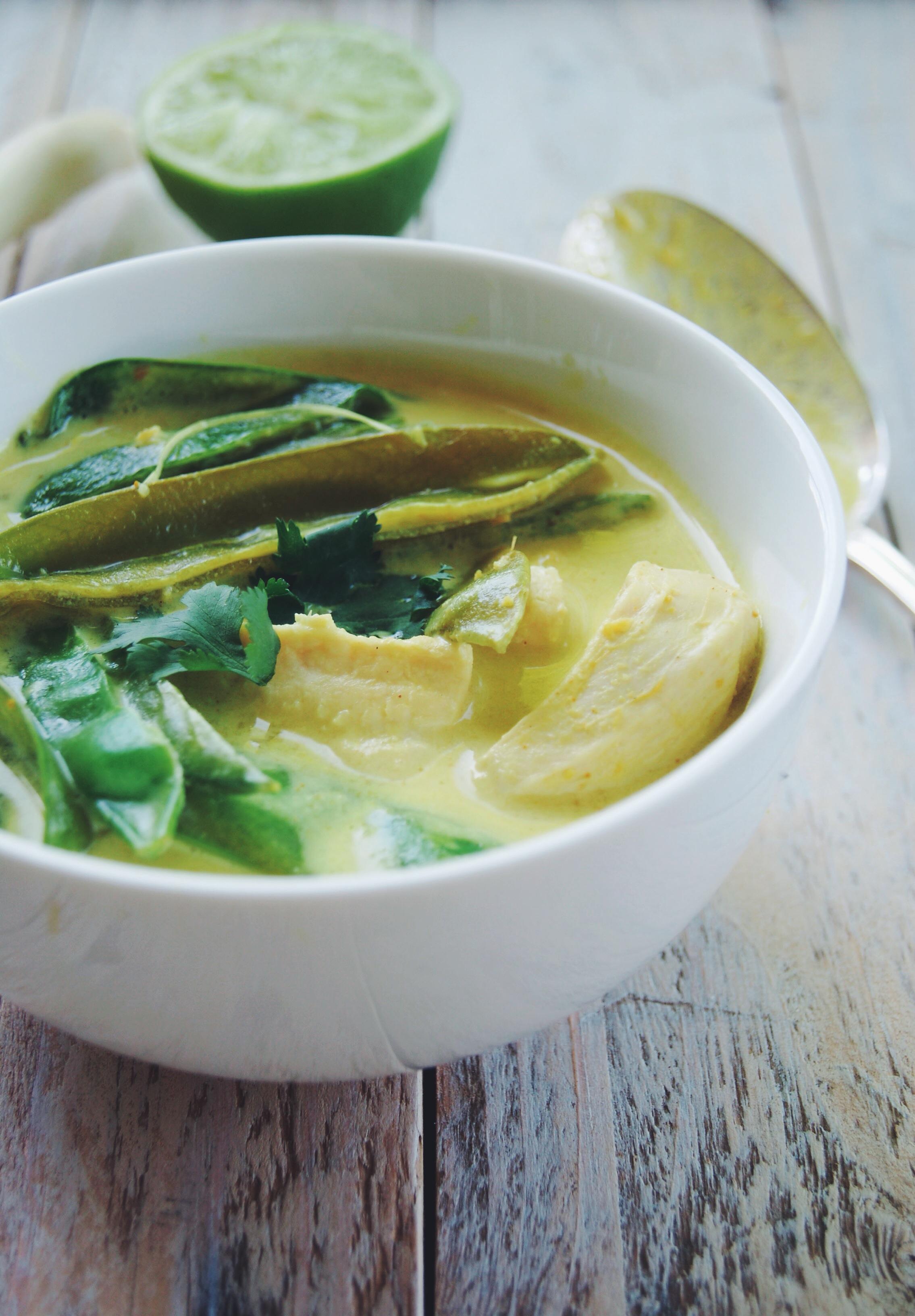 Soupe Tom Kha Kai au poulet