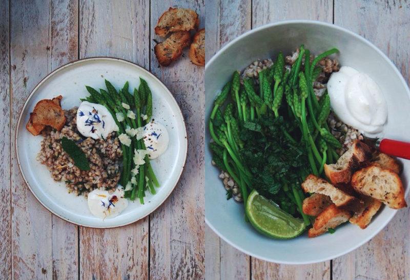 Salade d'ornithogales & sarrasin