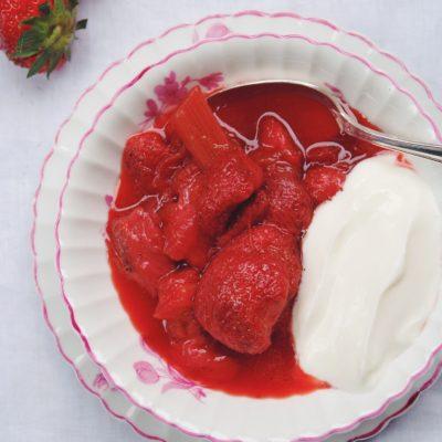 Compote fraises/rhubarbe