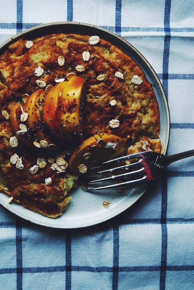 Pancakes et pommes caramélisées