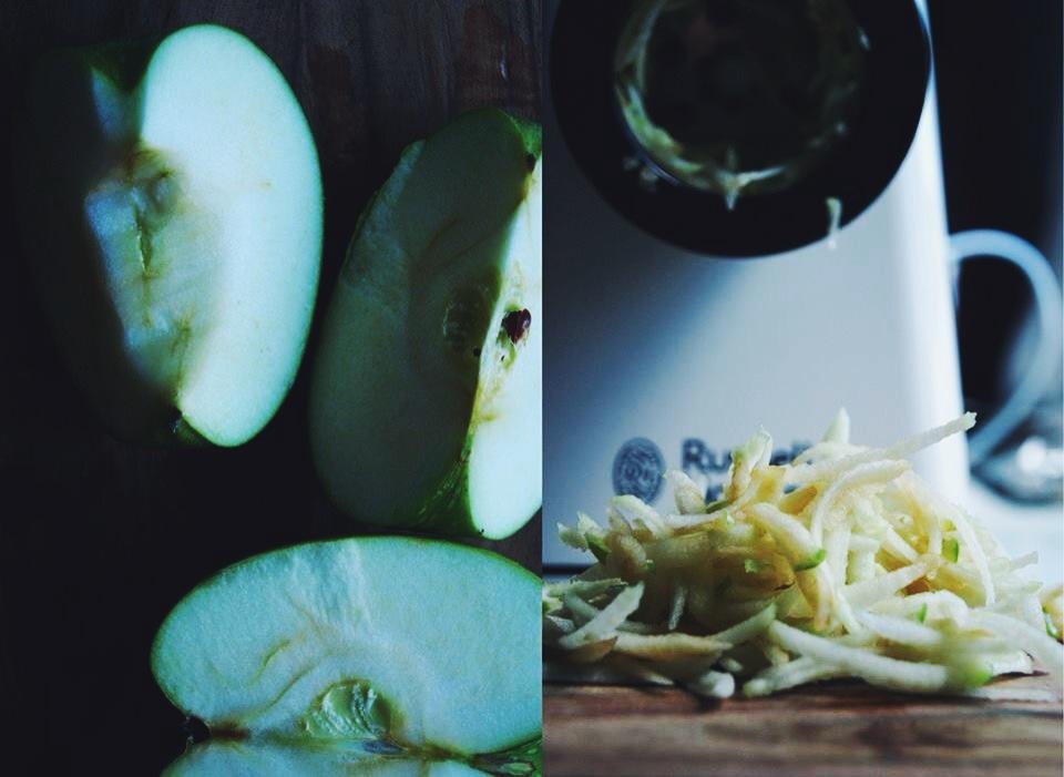 Salade d'endives, fourme d'ambert, noix et pomme verte