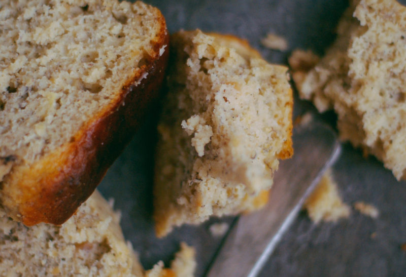 Banana bread léger au peanut butter