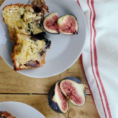Cake gorgonzola, miel, romarin & figues