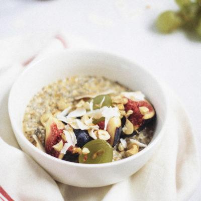 Overnight chia oatmeal