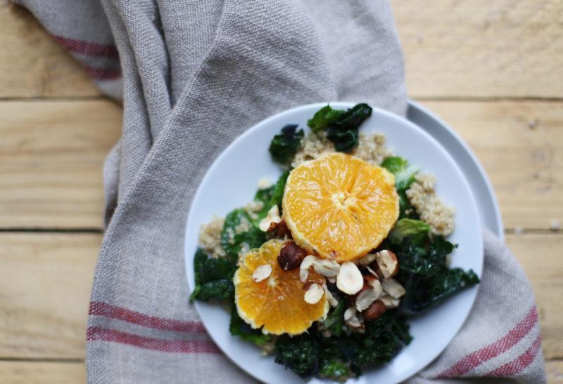 Salade de fleurs de brocolis au quinoa