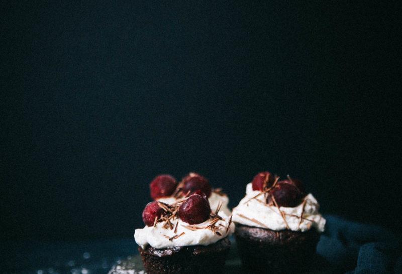 Muffins façon forêt noire