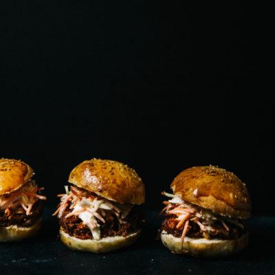 Minis burgers au pulled pork