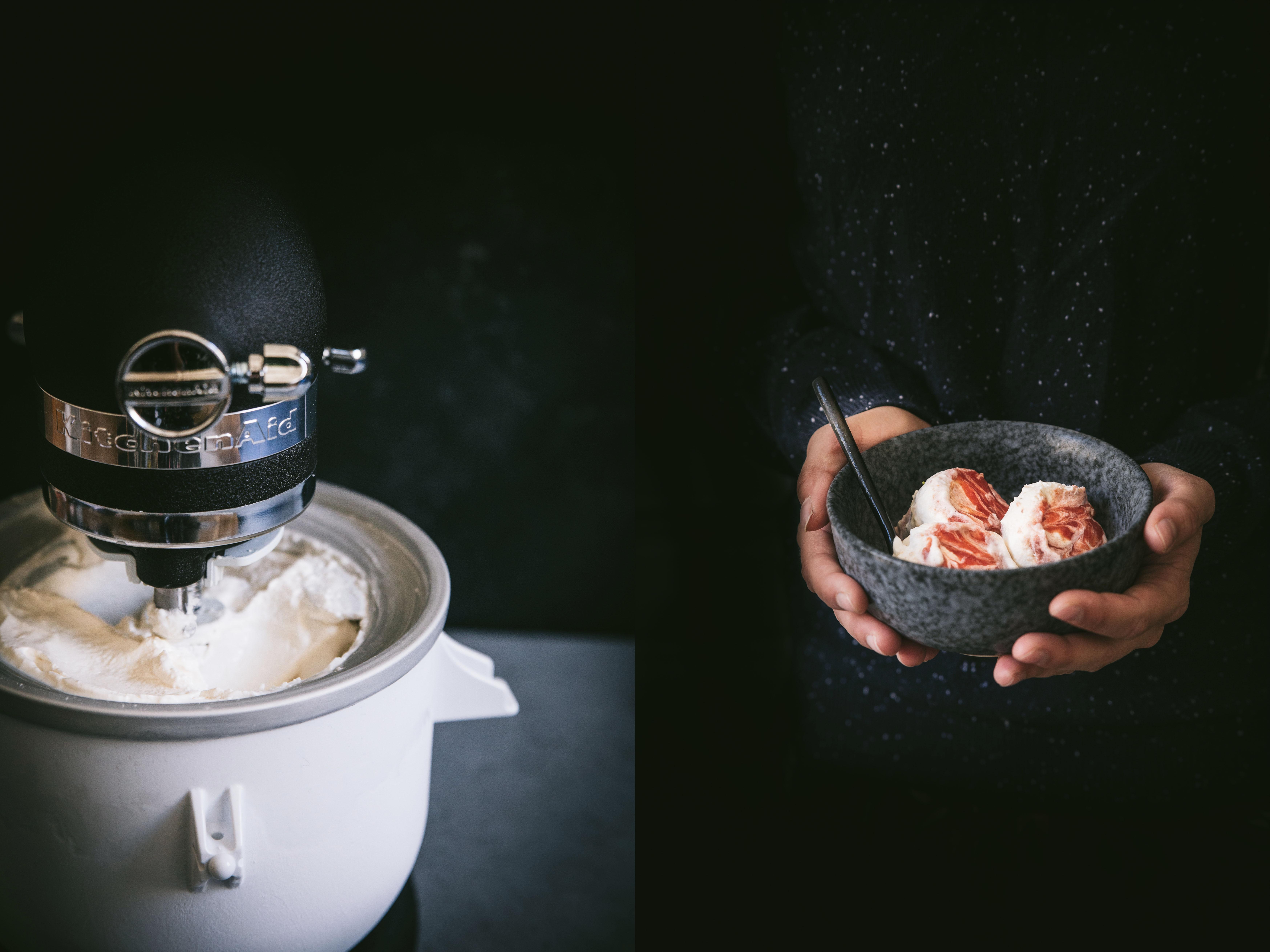 Glace noix de coco pêche KitchenAid - Mégane Ardérighi