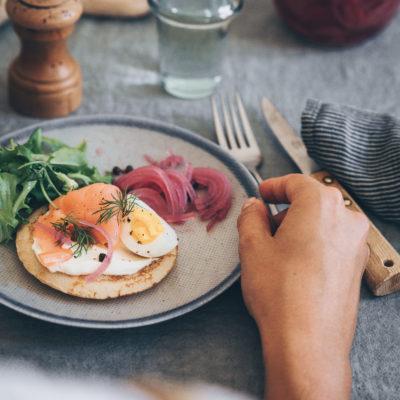 Un repas autour du saumon fumé Sensation