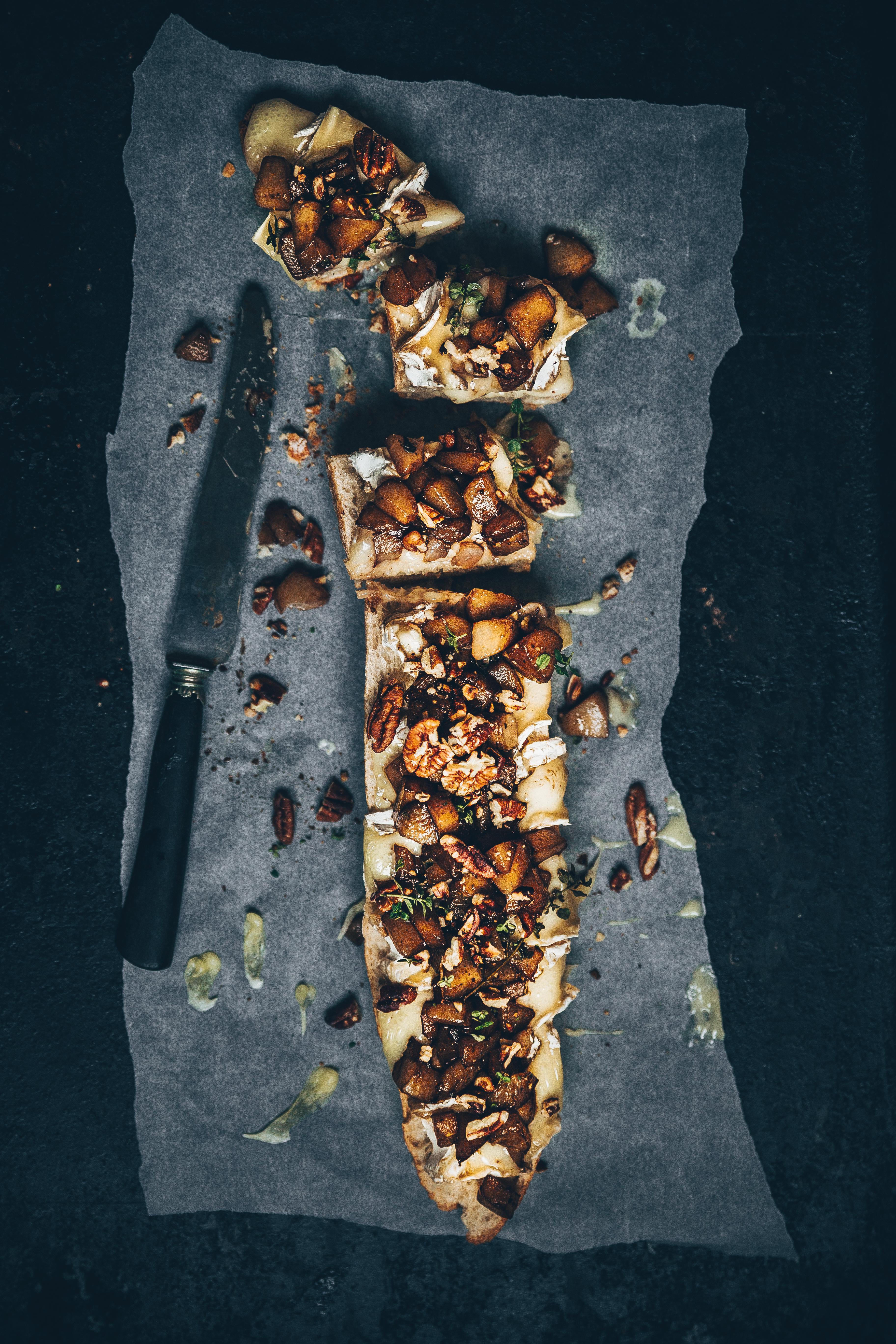 Tartines poires recette apéro