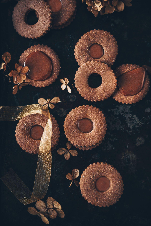 linzer cookie chocolat