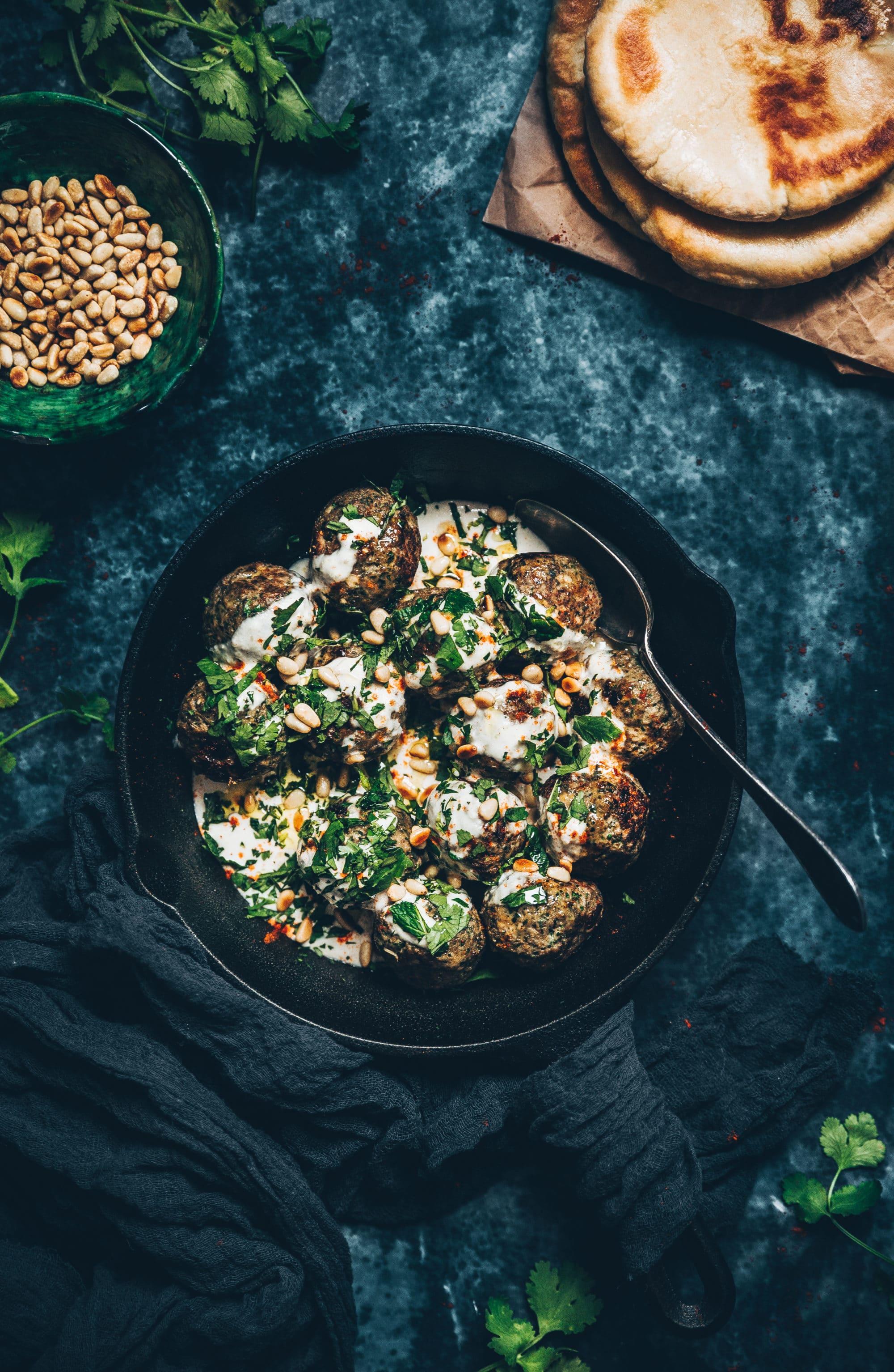Boulettes d'agneau & sauce tahini