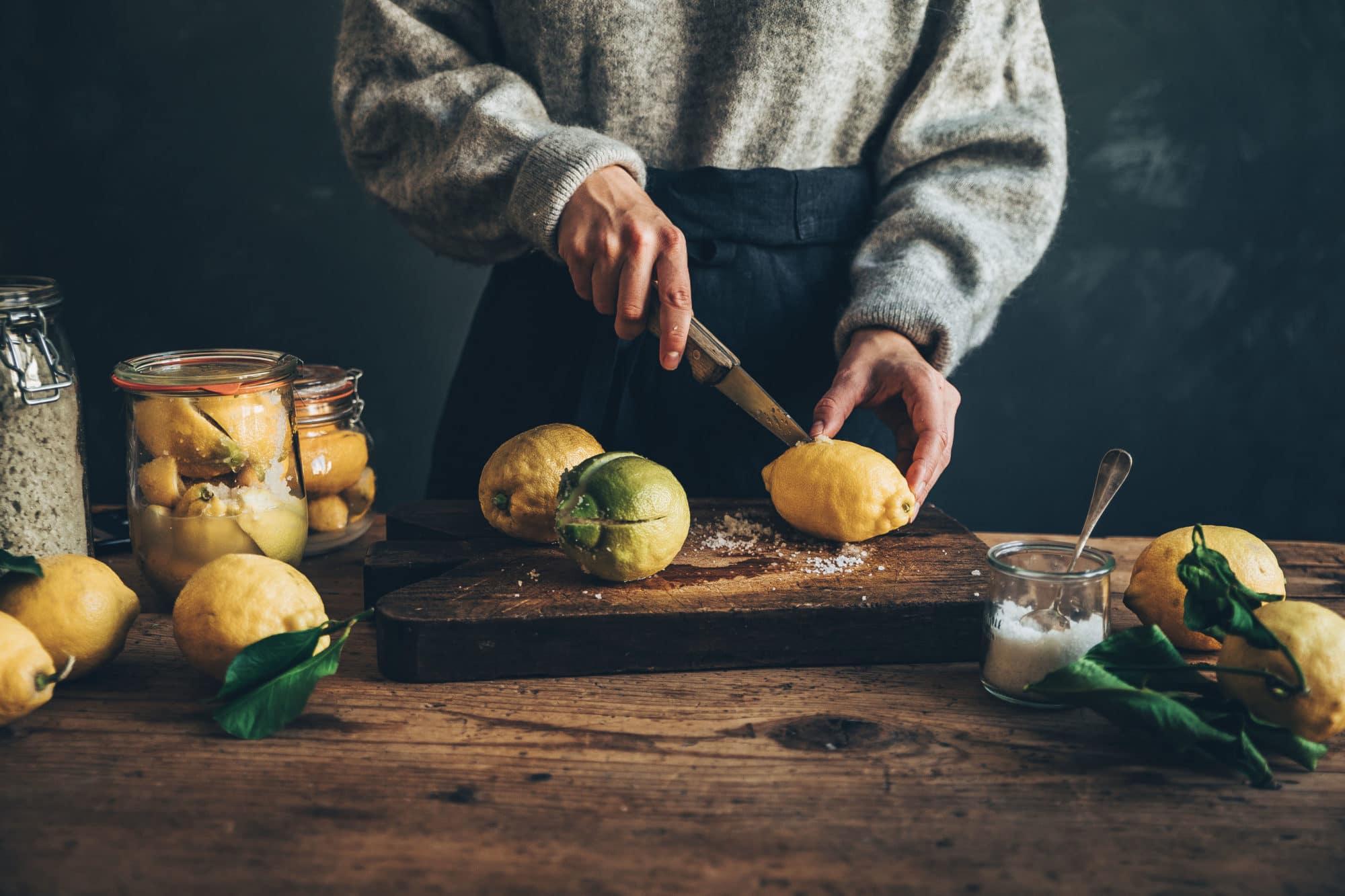 Citrons confits maison