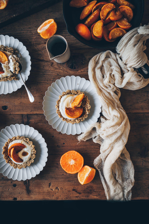 Tartelettes clémentines rôties petit déjeuner