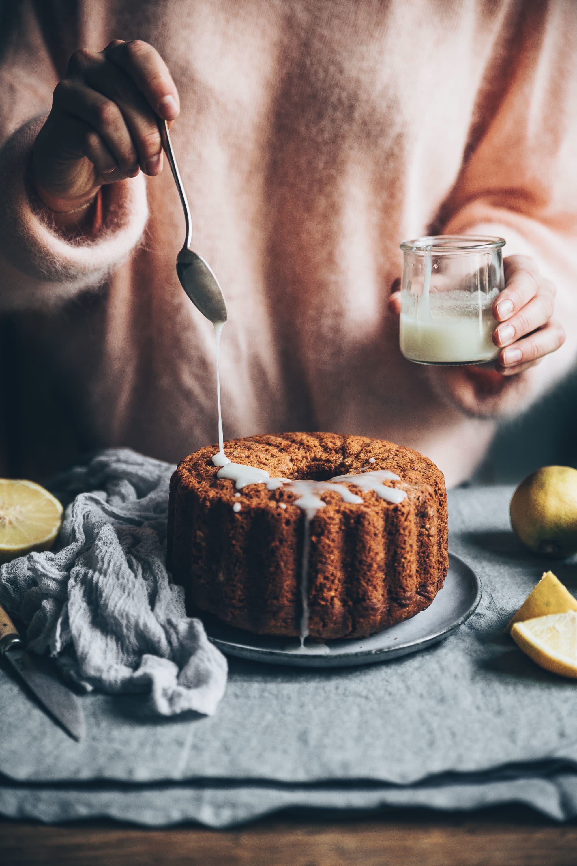Cake vegan citron bergamot