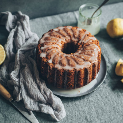 Bundt cake vegan au citron bergamote