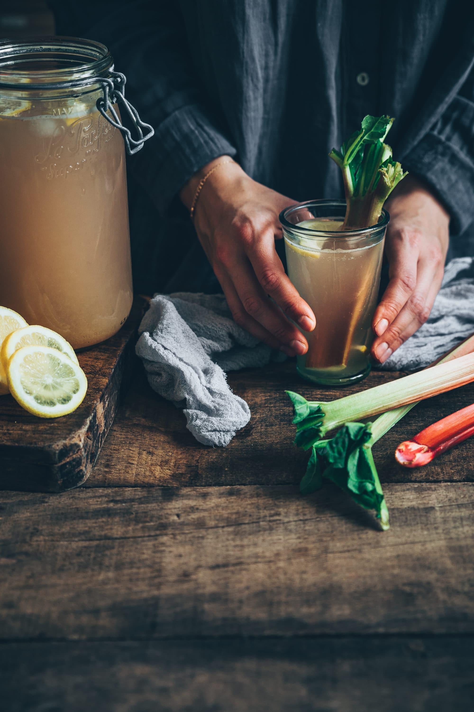 rhubarbe à la lemonade