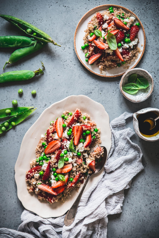 salade quinoa feta fraises