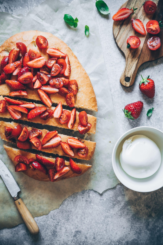 focaccia tomates fraises