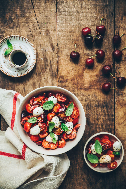 salade tomates cerises mozza