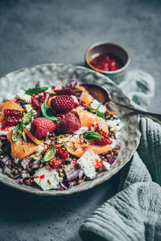 Mégane Ardérighi - megandcook Salade lentilles, truite, feta