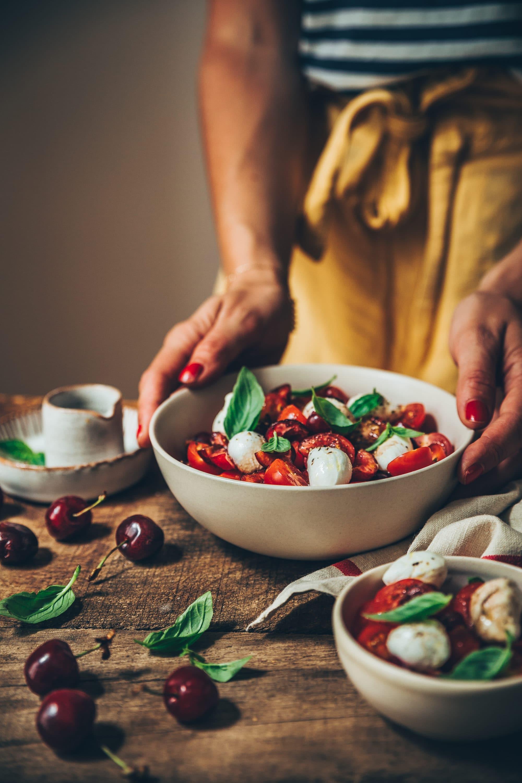 Megandcook - styliste culinaire - salade tomates cerises mozza