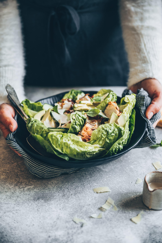 Salade de lapin croustillant et sauce au lait ribot