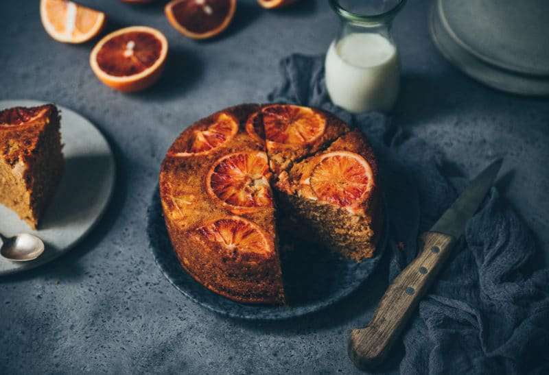 Upside down cake à l'orange sanguine