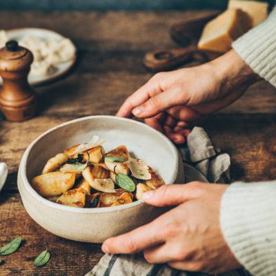 Gnocchis de chou-fleur et beurre de sauge