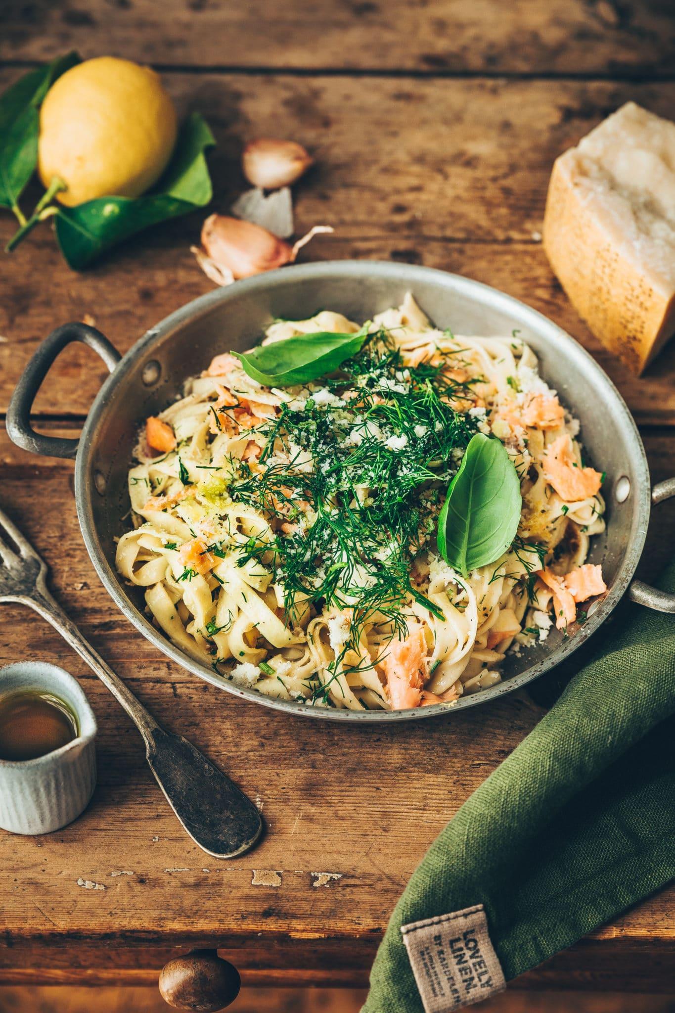Pâtes au saumon Mégane Ardérighi - megandcook styliste culinaire