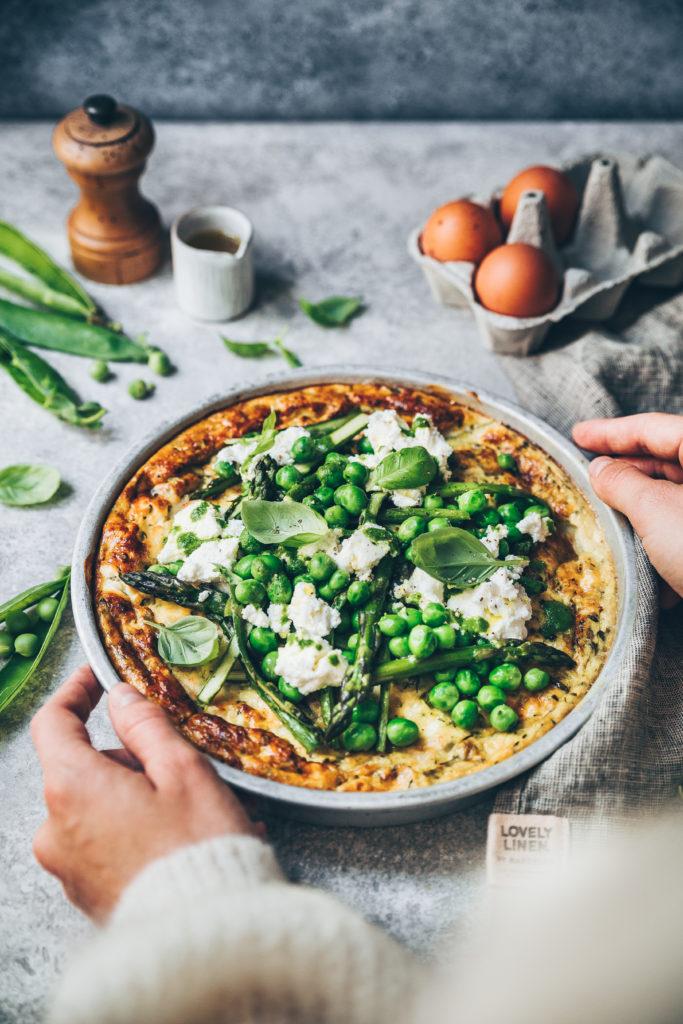 Frittata légumes verts - Mégane Arderighi - Megandcook
