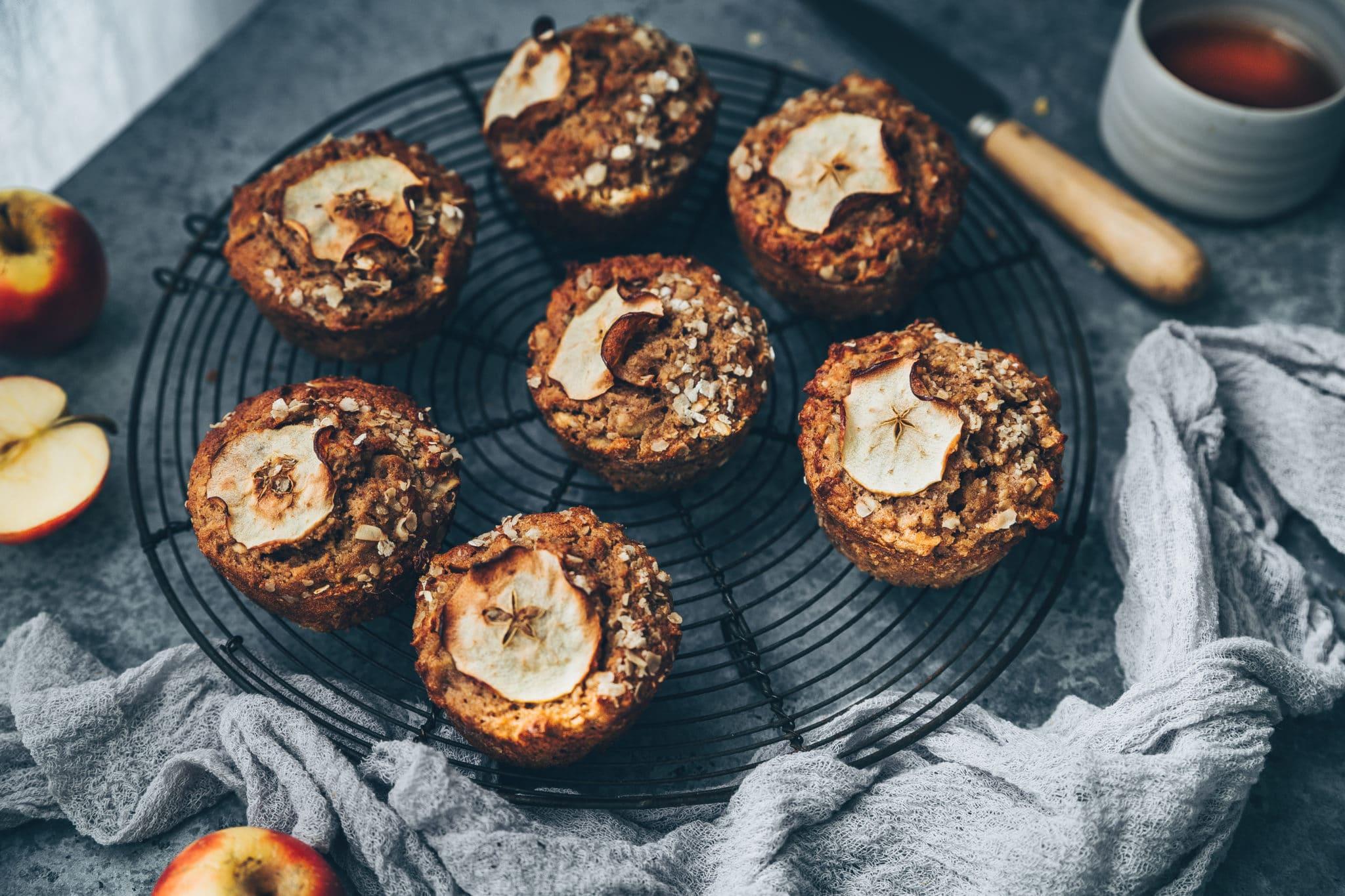 Muffins banane, pommes & flocons d'avoine