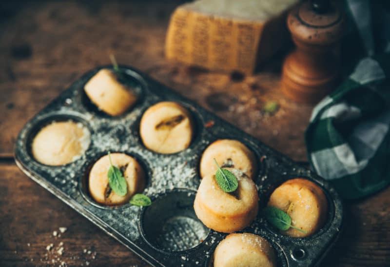 Mini muffins sauge et parmesan