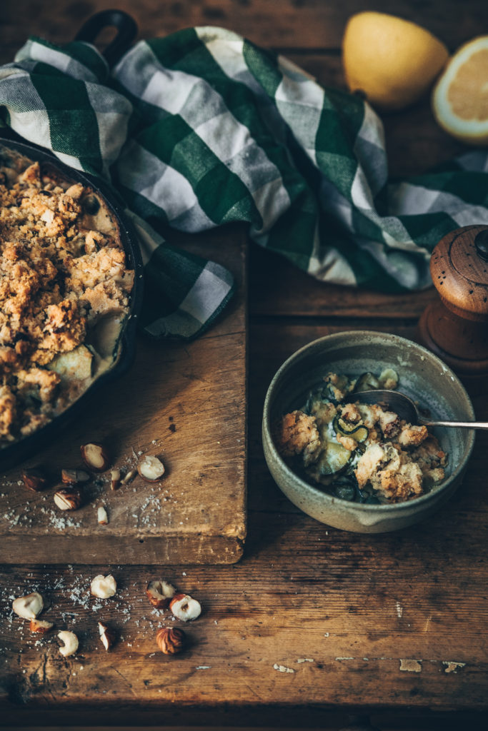 crumble chèvre courgettes - megandcook