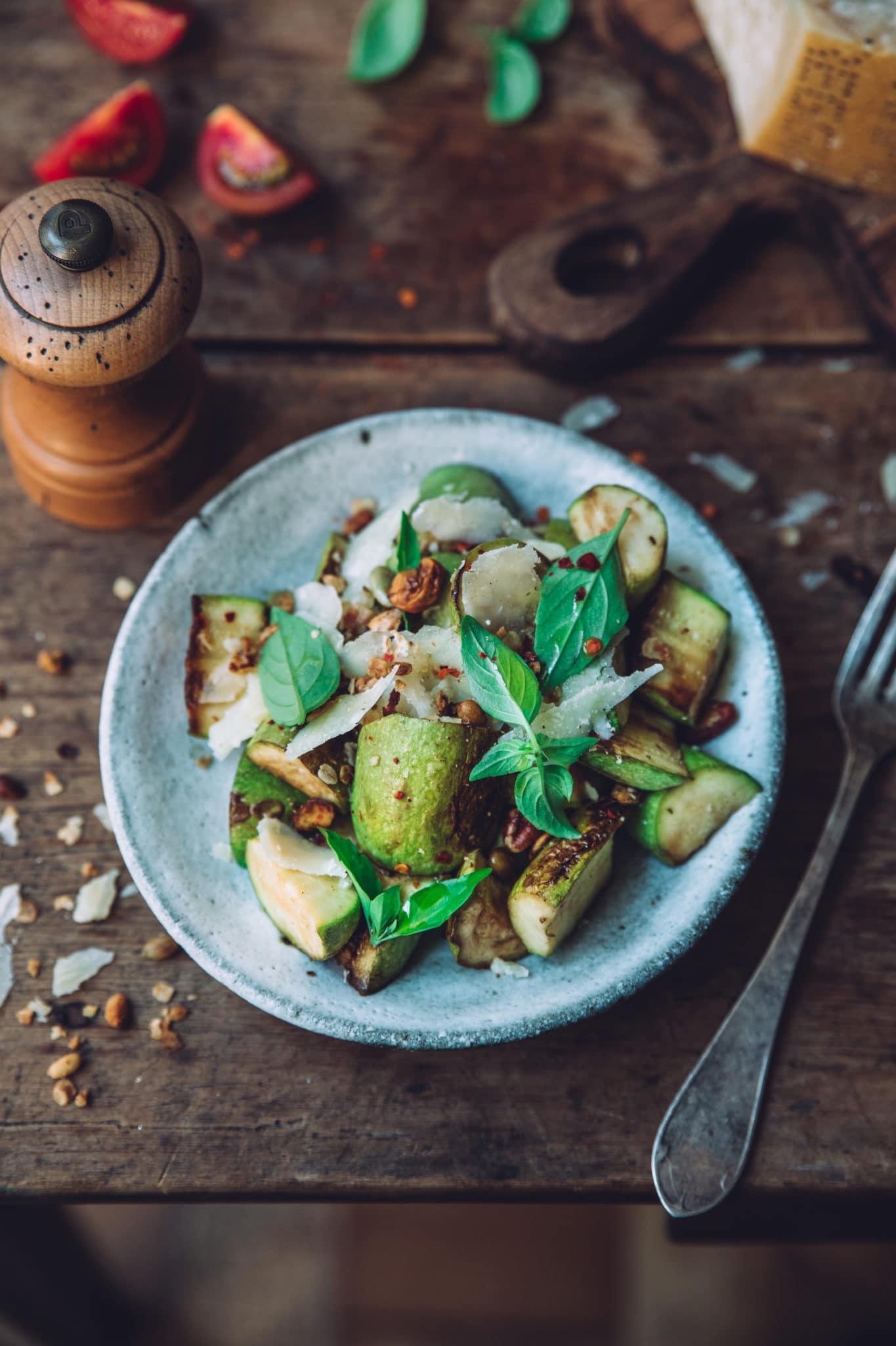 Salade courgettes grillées styliste culinaire lyon - Mégane Arderighi megandcook