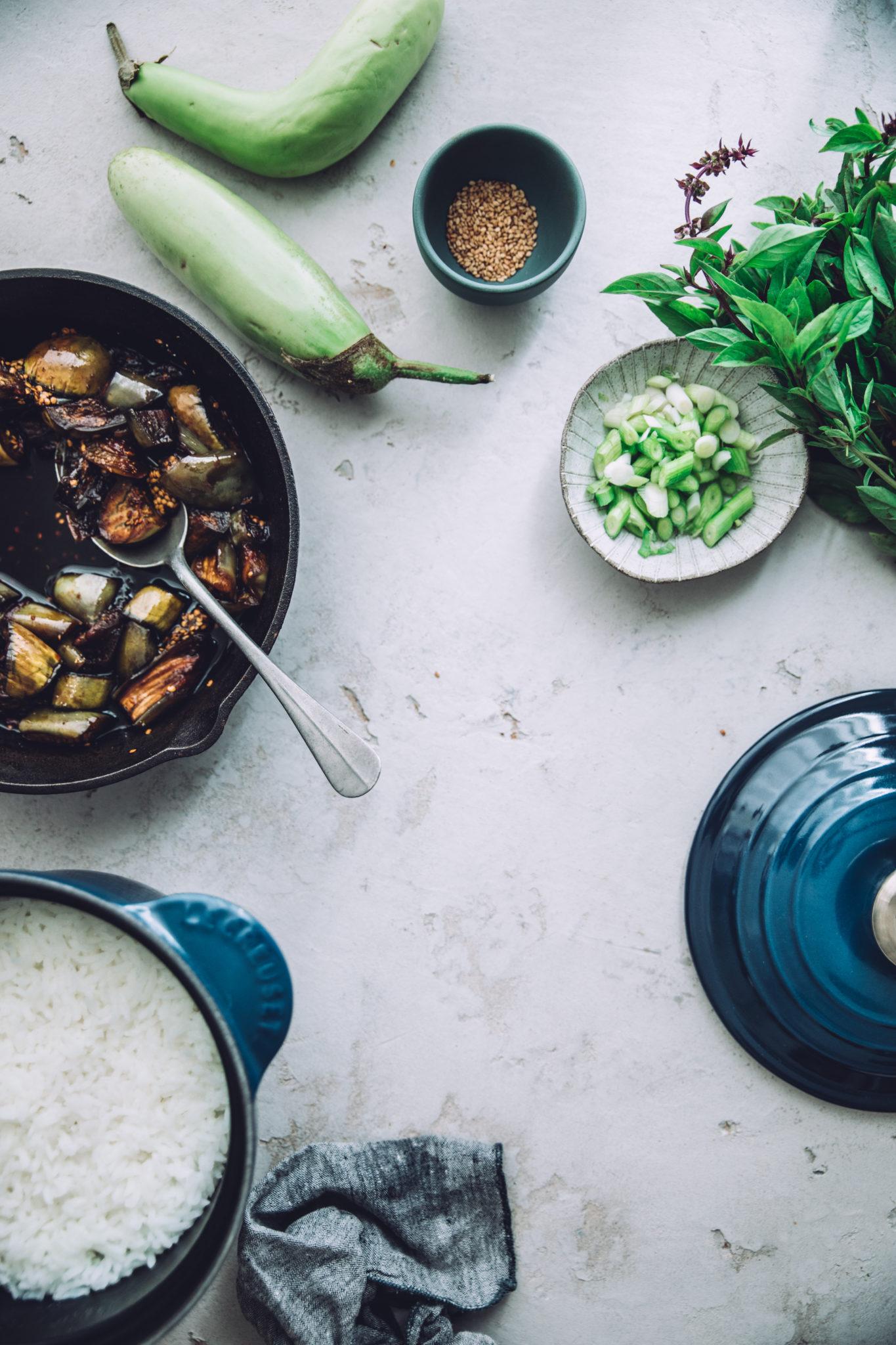 Aubergines Teriyaki Mégane Ardérighi Megandcook styliste culinaire lyon