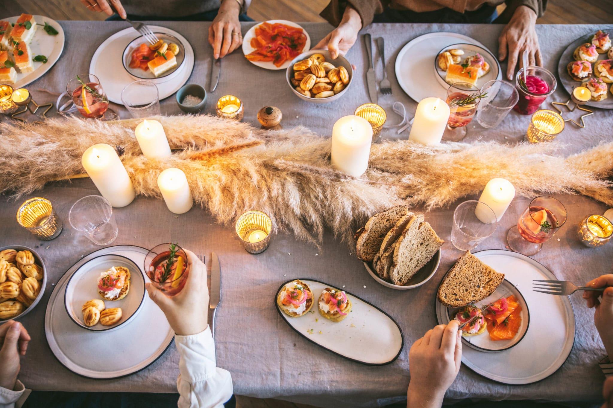 Table de fêtes noël