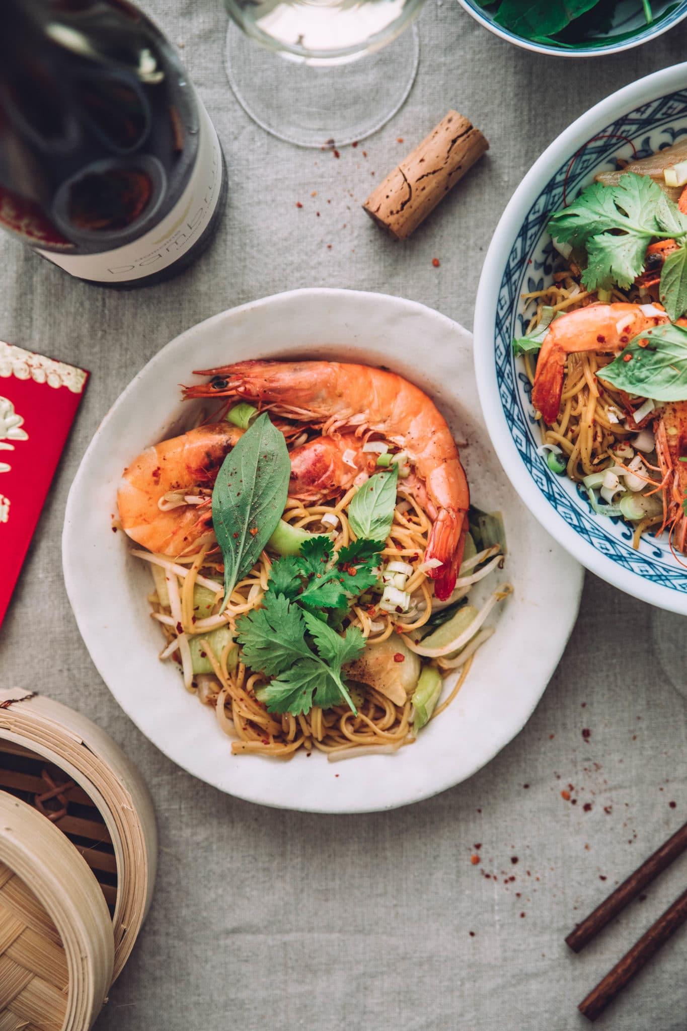 Nouilles chinoises légumes