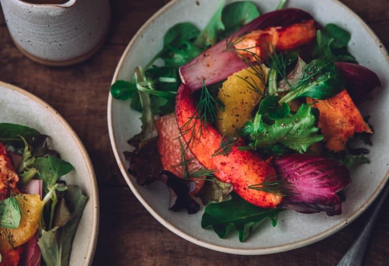 Salade de homard aux agrumes