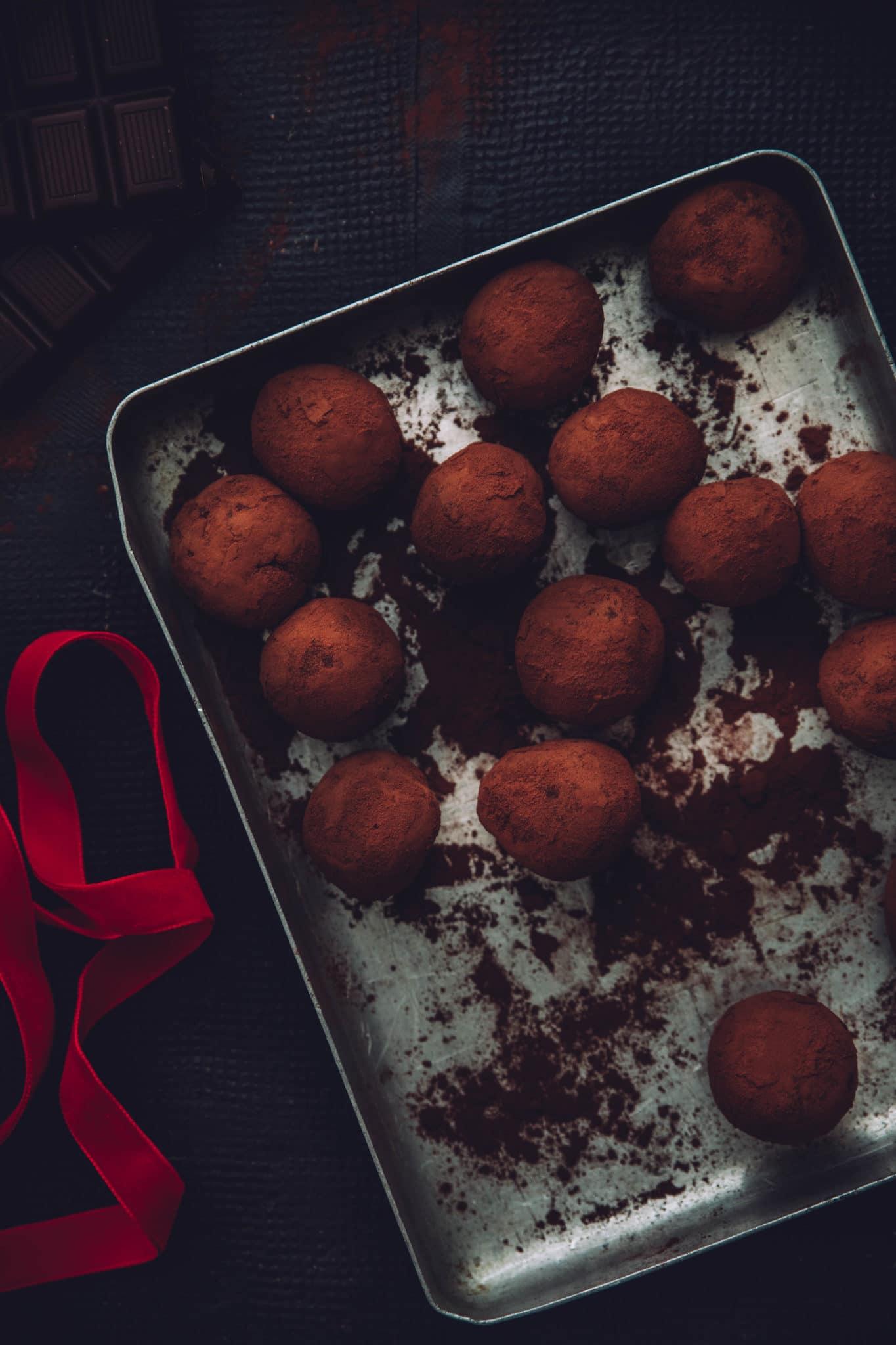 truffes chocolat coco