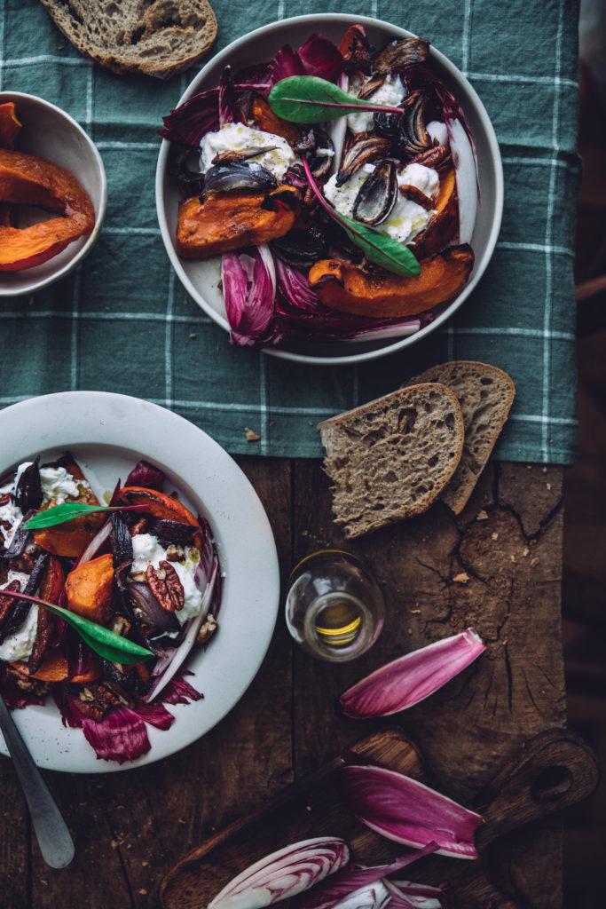 Salade burrata hiver