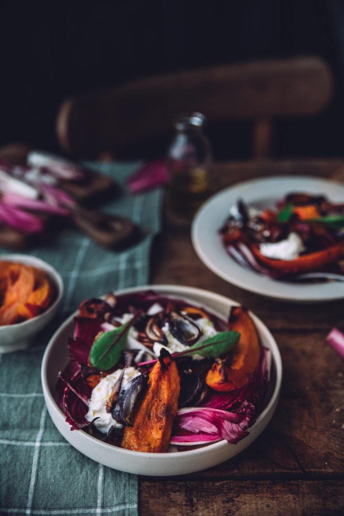 Salade de courge burrata