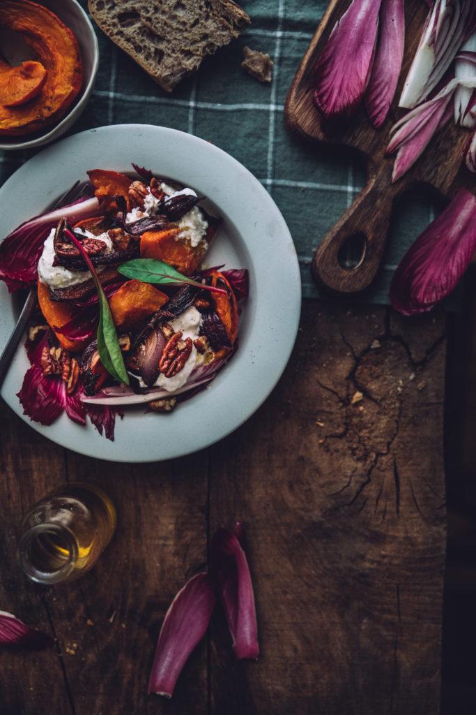 Salade burrata courage styliste culinaire lyon