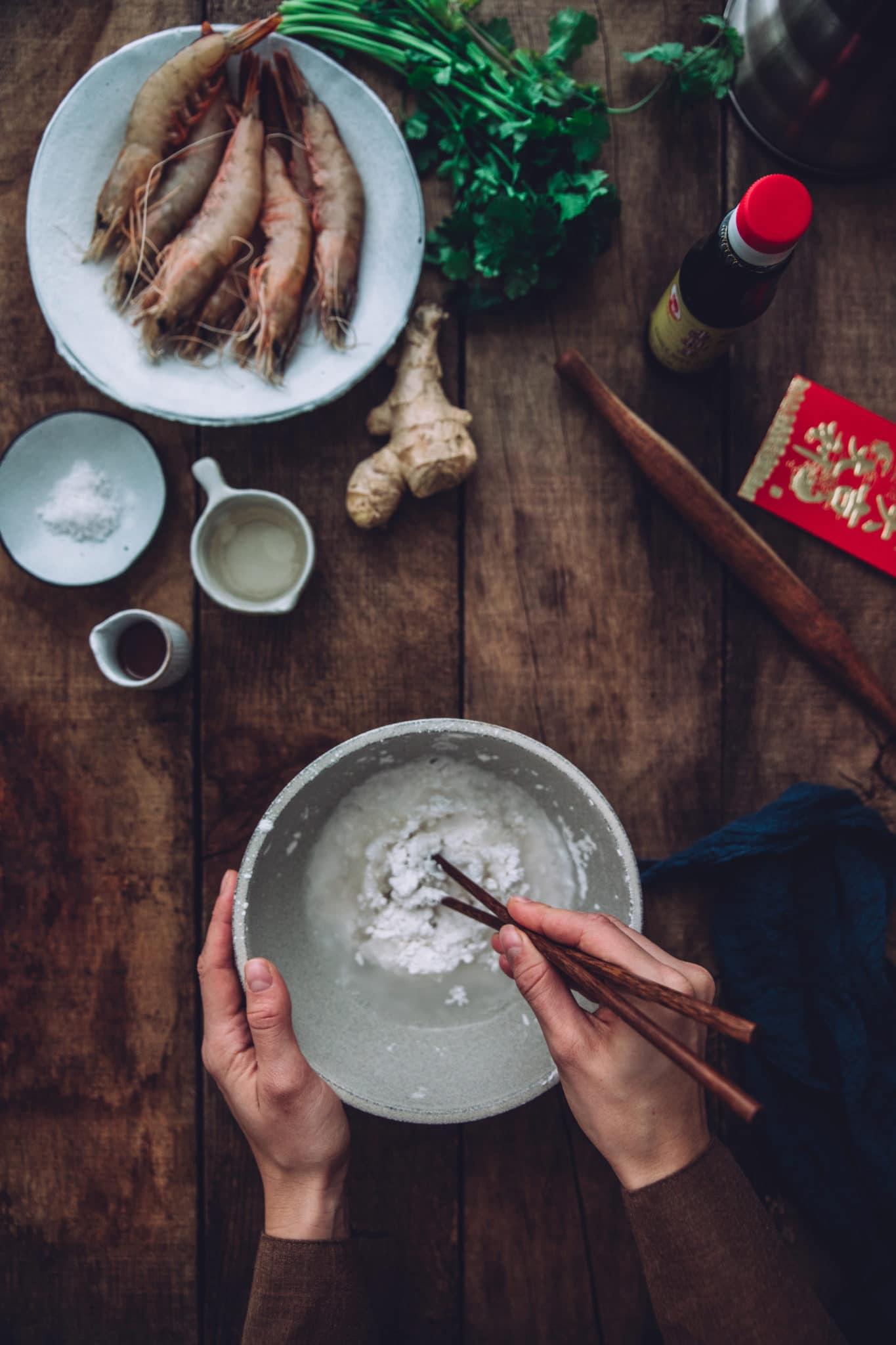 raviolis vapeur crevettes