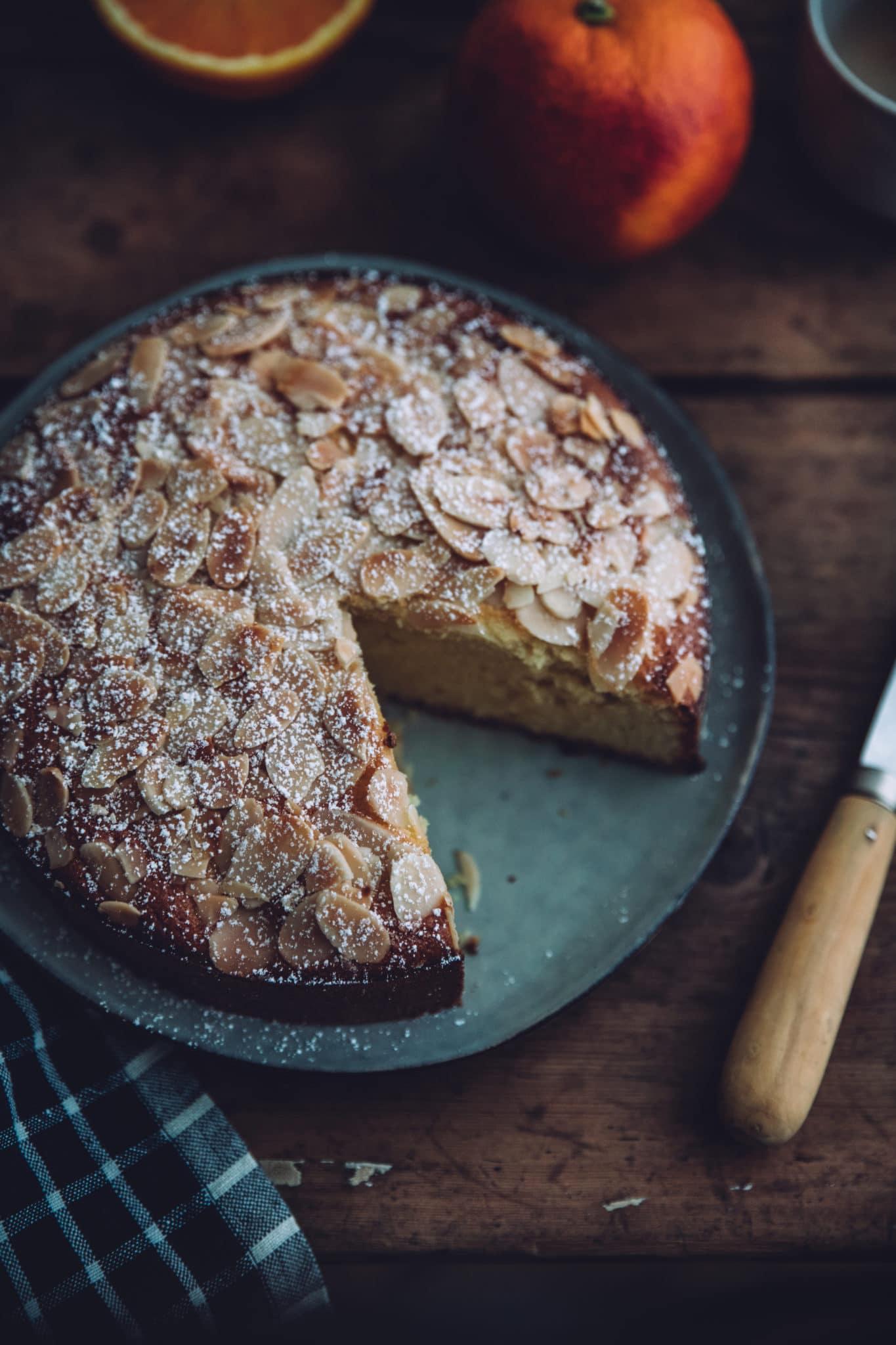 Gâteau moelleux amandes orange