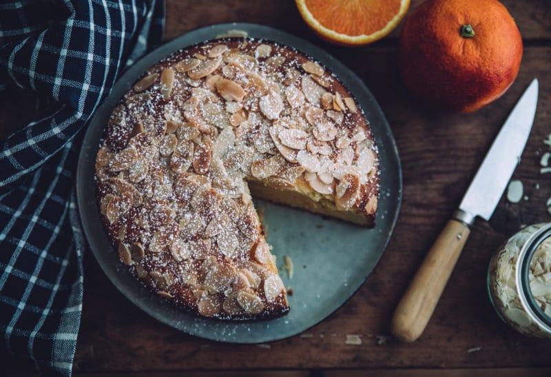 Gâteau aux amandes et orange